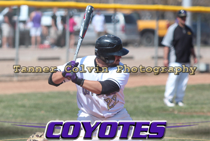 Senior Chad Zuniga went 3-for-3 in the 2nd game as the Coyotes split with Saint Mary on Sunday at Evans Stadium