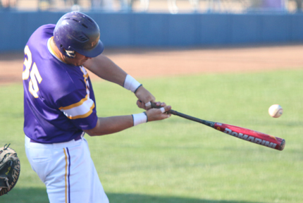 Daniel Bolanos hit his KCAC leading 14th homerun in Game 2 on Thursday against McPherson