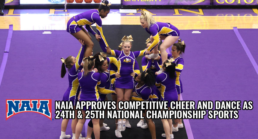 Photo for NAIA Approves Competitive Cheer and Dance as 24th and 25th National Championships