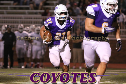 Taylor Sachs had 11 receptions and 12 rushes in the game for the Coyotes