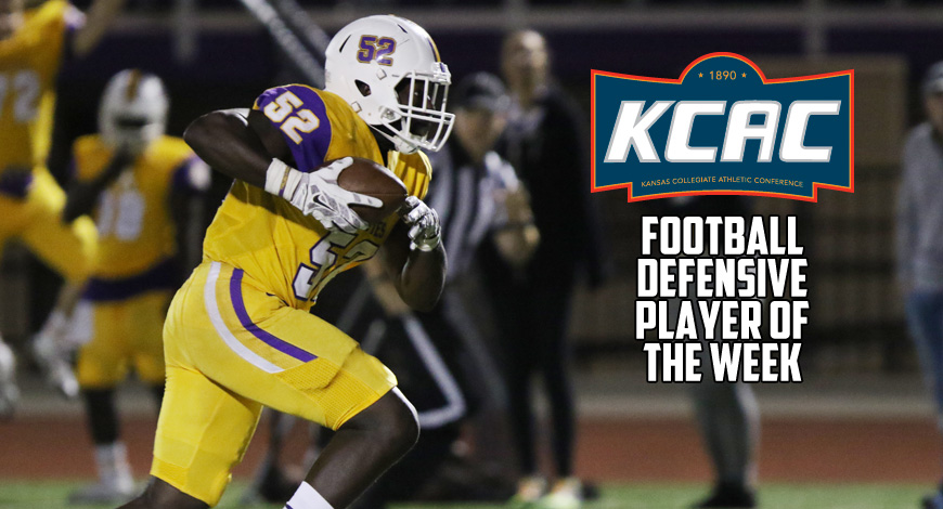 Photo for McQueen earns KCAC Football weekly honor