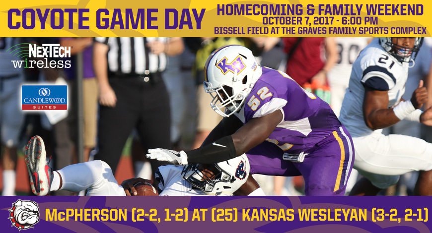 Photo for Kansas Wesleyan hosts McPherson for Homecoming and Family Weekend Game Saturday