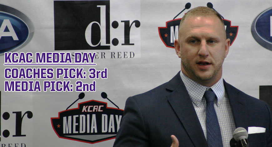Photo for Football picked second by media, third by coaches at KCAC Football Media Day