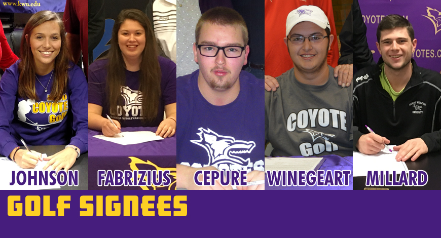 Photo for Golf teams add five signees