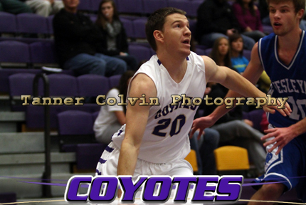 Dylan Hidalgo scored the first 10 points of his KWU career in Monday's game against Dakota Wesleyan