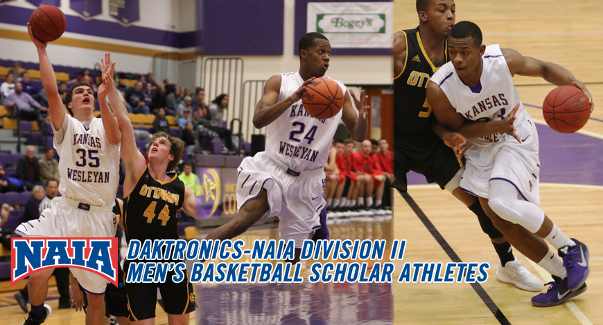 Photo for Lunz, Moss and Sylvester named as Daktronics-NAIA Division II Men's Basketball Scholar Athletes