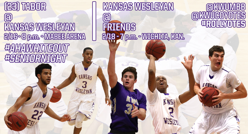 Photo for Men's Basketball with big week ahead hosting No. 23 Tabor, heading to Friends