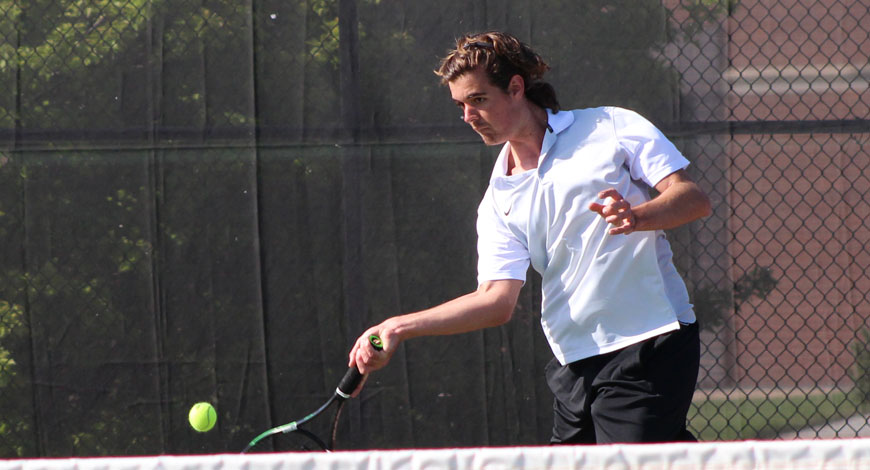 Photo for Men's Tennis nearly pulls off upset of (RV) Bethany in KCAC Semifinals