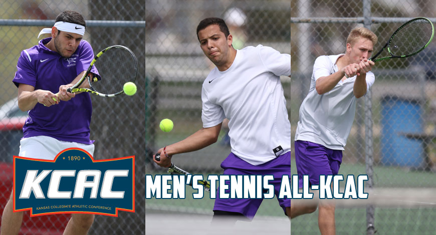 Photo for Men's Tennis has three earn spots on All-KCAC teams