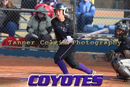 Kim Patterson has a .412 average for the Coyotes and leads the team with 28 hits