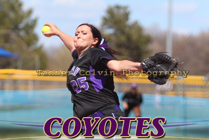 Daria Leid threw four innings in Friday's opener, not giving up a hit for the Coyotes