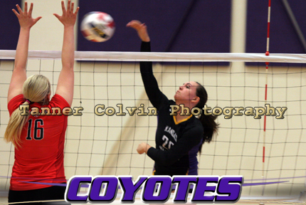 Brittaney Miller had 11 kills to lead the Coyotes in their straight set victory over McPherson