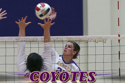 Jori Mote had 13 kills on Wednesday night as the Coyotes swept Friends