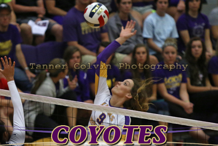Taylor Klover had four kills and was in on six blocks on Wednesday night at Southwestern