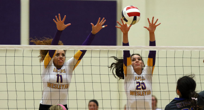 Photo for Volleyball drops both matches in season opener in Chicago