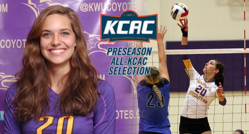 Photo for Blusher earns spot on Volleyball Preseason All-KCAC team