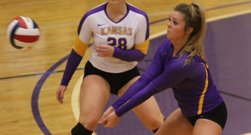 Photo for Balanced offensive effort sends Volleyball past Sterling in straight sets