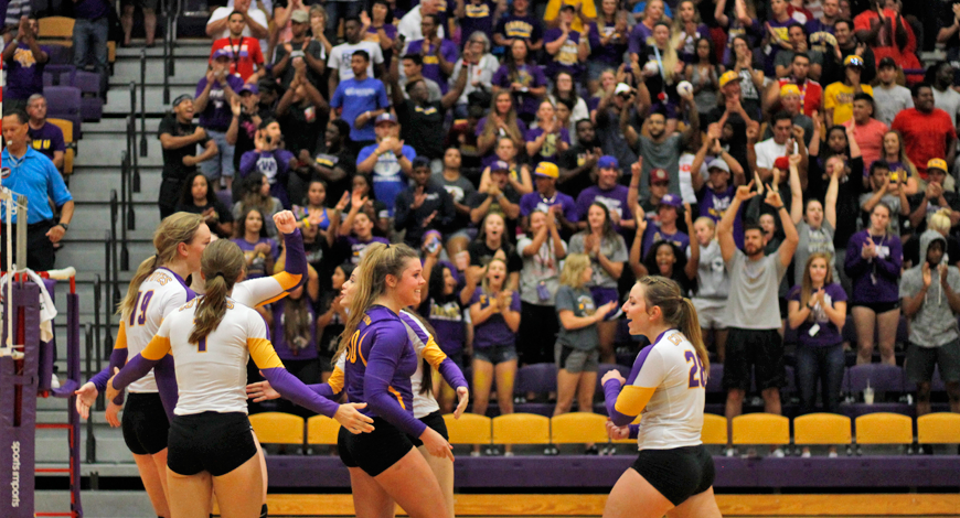 Photo for Volleyball rebounds with four set win over McPherson