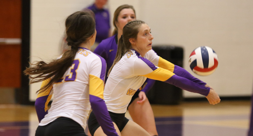 Photo for Volleyball sweeps matches with York and Haskell at York Triangular