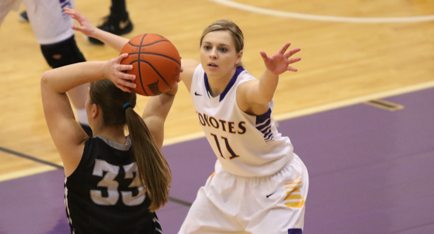 Photo for Women's Basketball evens record at 3-3 with 65-54 win at Mount Marty