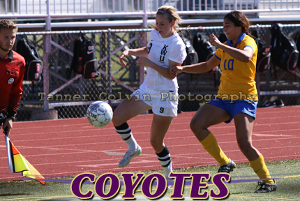 Sarah Granato scored a goal for the Coyotes on Wednesday against Bethel